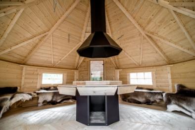 Favorit Kota 16,5m² mit Saunaanbau (12-18 Personen, Sauna 4 Personen GR47